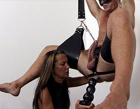 Femdom gives blowjob while fucking ass-Picture1