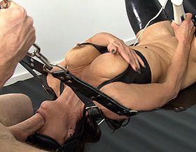 Mistress and her slave cum while having deep throat sex-Picture1