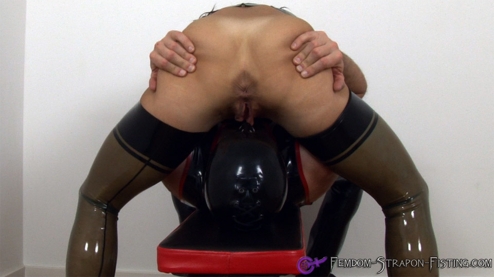 image Teen strap on anal punishment and roman