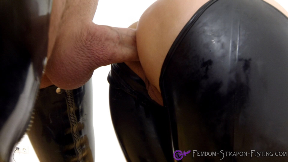 Mistress enjoys hard boner up her arse